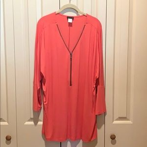 VENUS Coral Stretchy Tunic PERFECT CONDITION